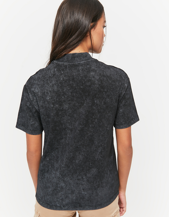 Schwarzes, verwashenes Top