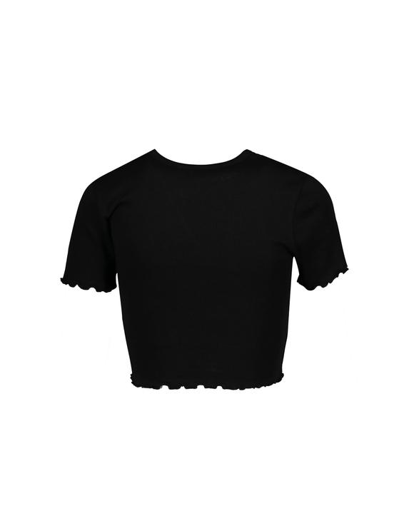Black Slogan Crop Top
