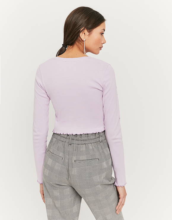 Light Purple Printed Top