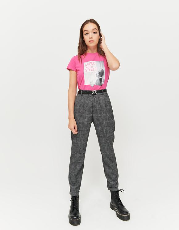 T-Shirt Meme Rose Fluo