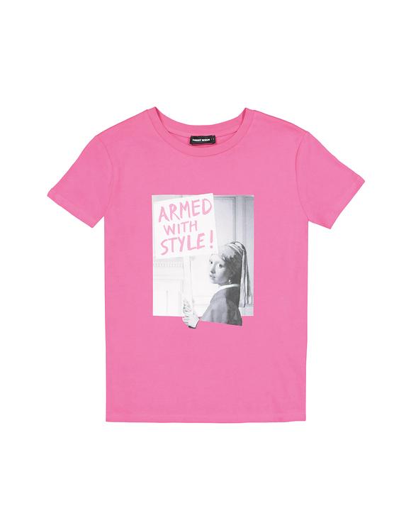 Neon Pink Meme T-Shirt