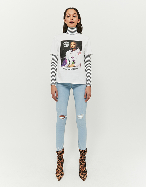 White Space Print Meme T-Shirt