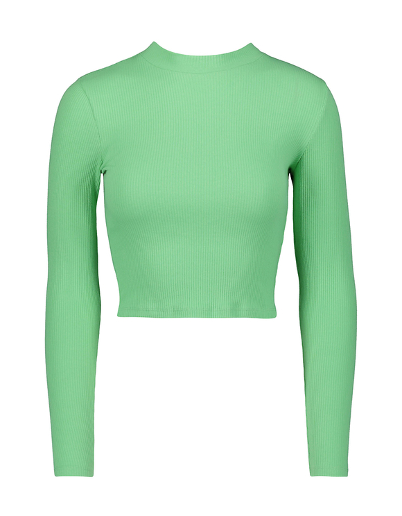 Green Long Sleeves Top
