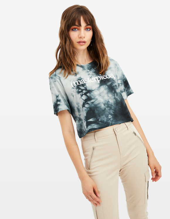 Grey Tie & Dye Top
