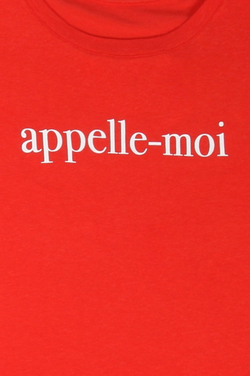 "Orange ""Appelle-moi"" T-Shirt"