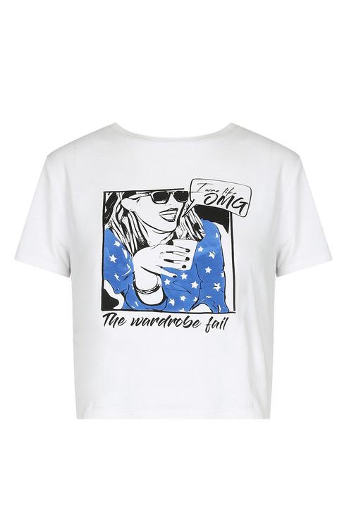 """White """"OMG"""" T-Shirt"""