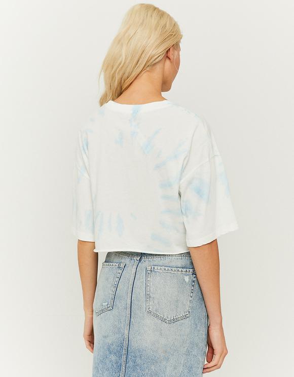 Kurzes Oversize T-Shirt mit Aufdruck