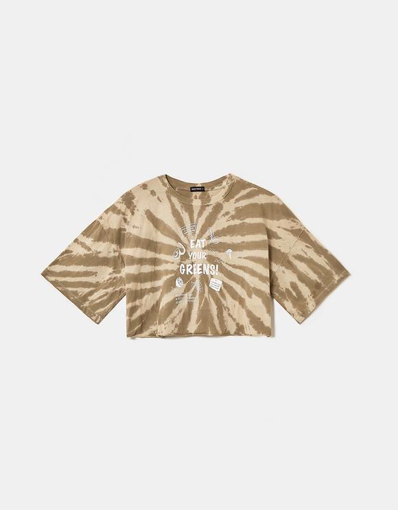 Kurzes Oversize Tshirt mit Aufdruck
