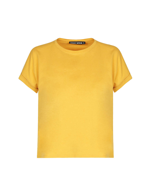 Gelbes Basic Shirt