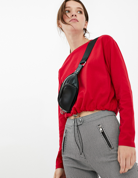 Red Top with Drawstring