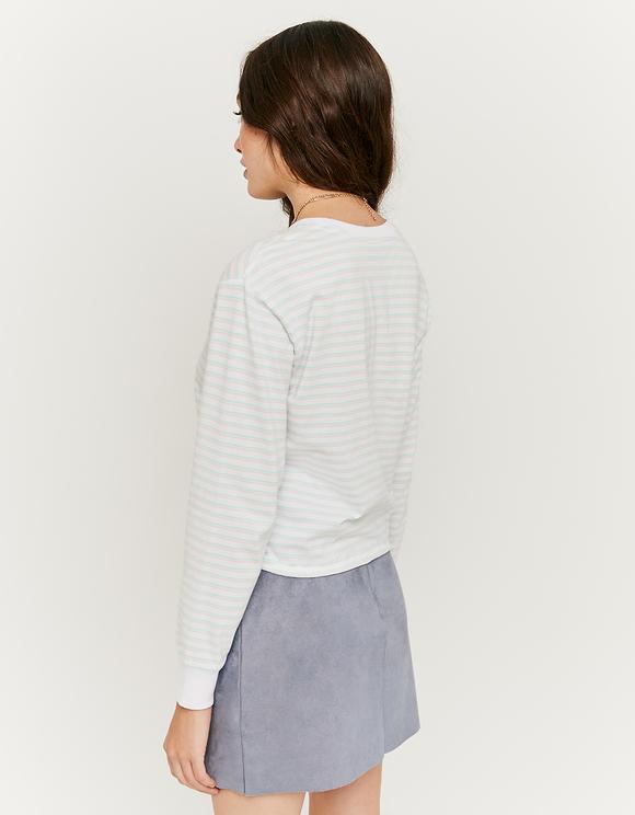 Striped Elastic Hem Top