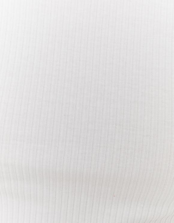 Weißes Crop Top