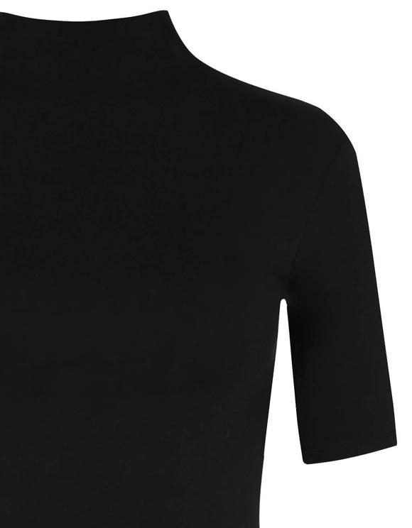 Schwarzes Top mit Rollkragen
