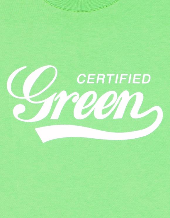 Lime Green Printed T-Shirt