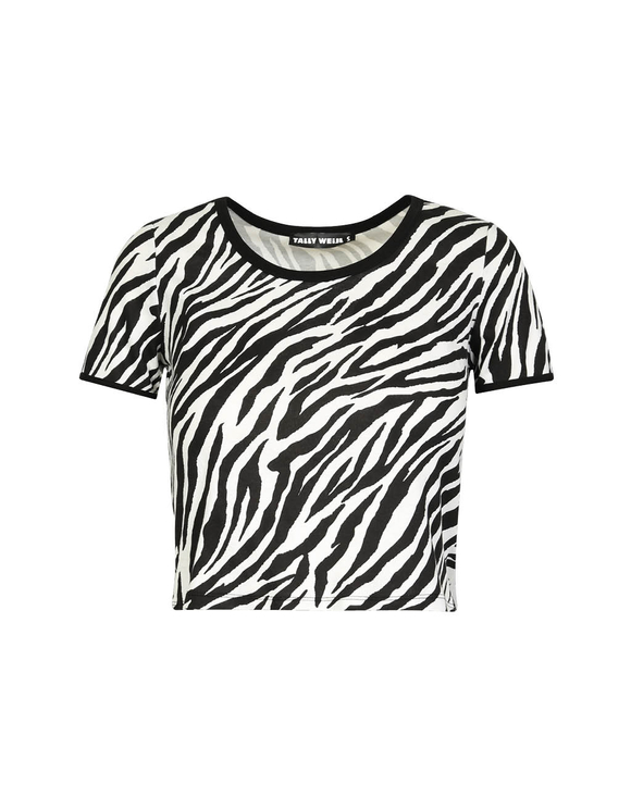 Zebra Crop Top
