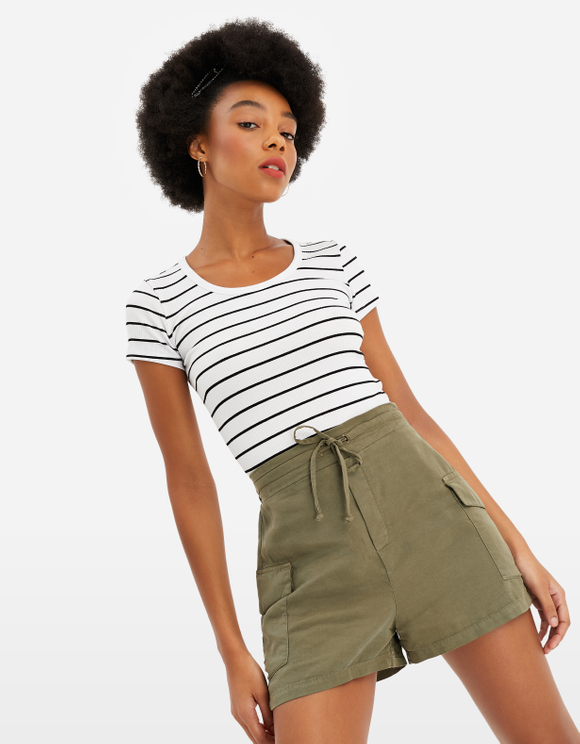Crop Top Rayé