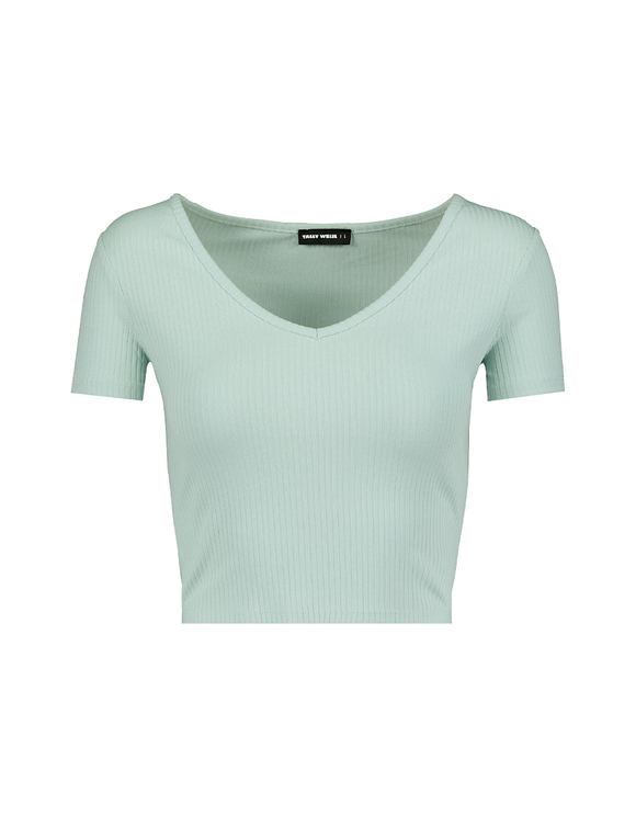 Light Green Crop Top
