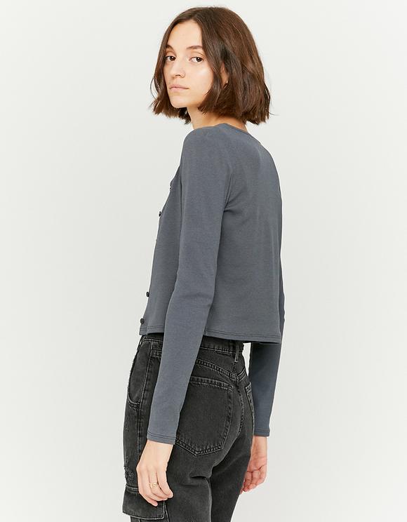 Grey 2 in 1 Cardigan Top