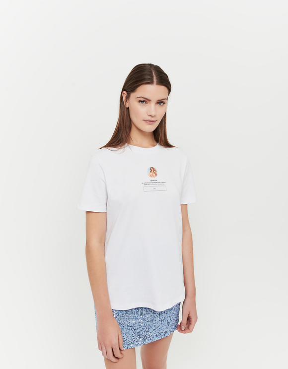 White Venus Printed T-Shirt