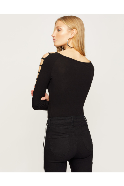 Black Cut Out Top