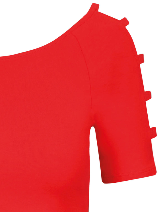 Top Rosso con Cut Out