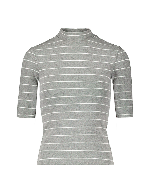 Grey Striped Basic Top