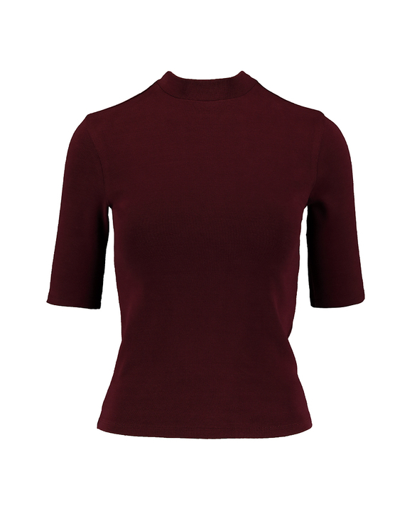 Bordeauxrotes Basic Top