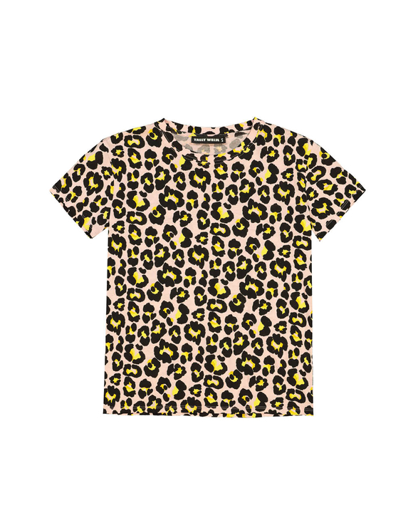 T-shirt Rosa Leopardata