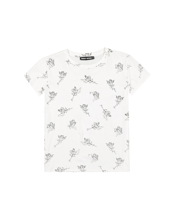 White Angel Print T-Shirt