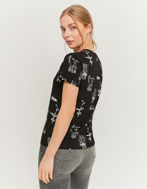 T-Shirt Noir Imprimé