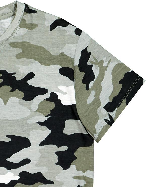 T-Shirt Imprimé Camouflage