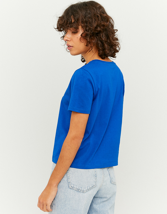 Blue Printed T-Shirt