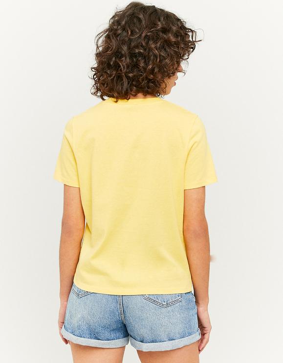 Yellow Printed T-Shirt