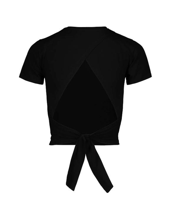 Black Open Back Top