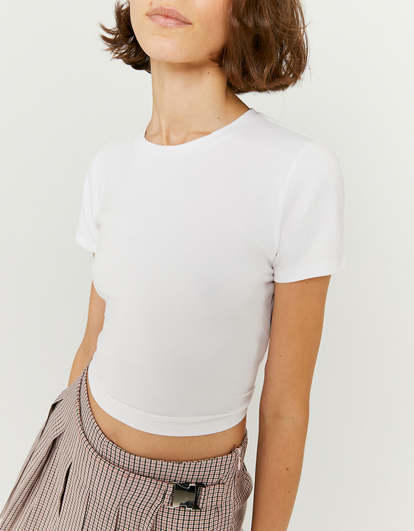 White Open Back Top