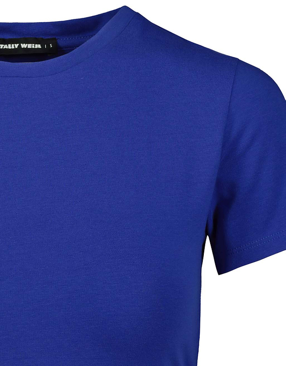 Top Bleu Dos Ouvert