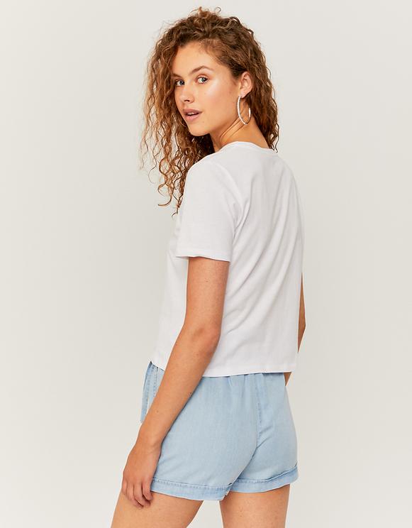 T-Shirt Blanc Slogan Imprimé