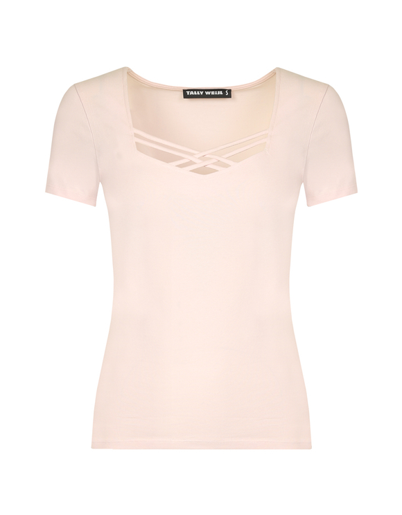 T-shirt Rosa con Incroci