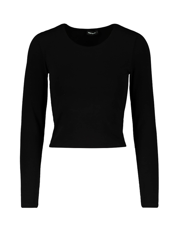 Black Basic Crop Top