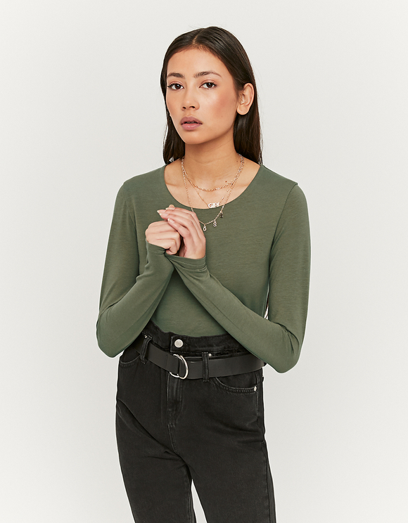 Khaki top Basic