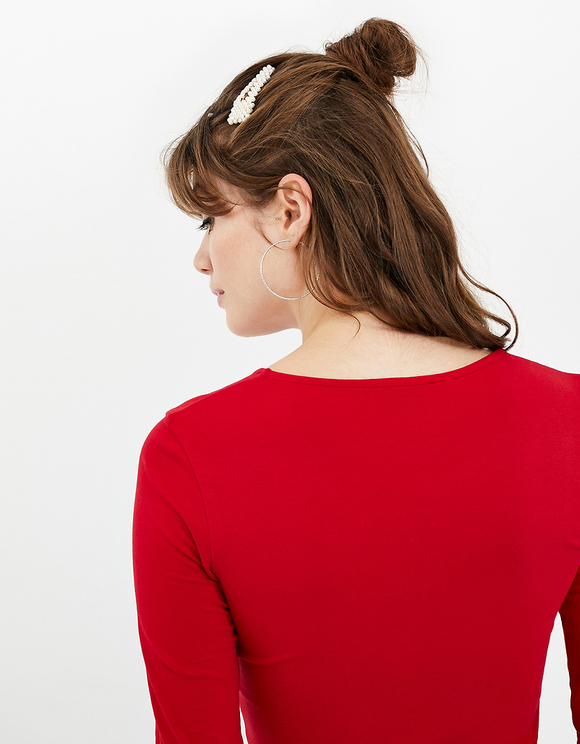 Red Basic Crop Top