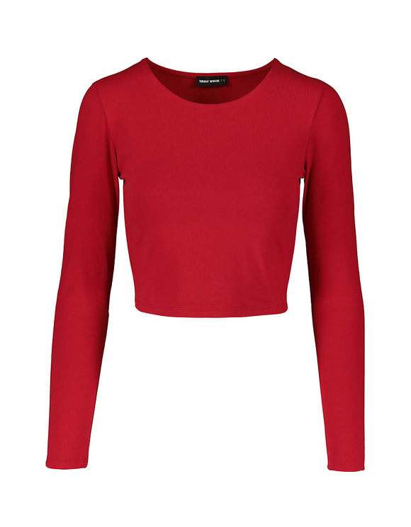 Crop Top Rouge Basique