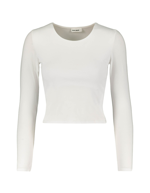 White Basic Crop Top