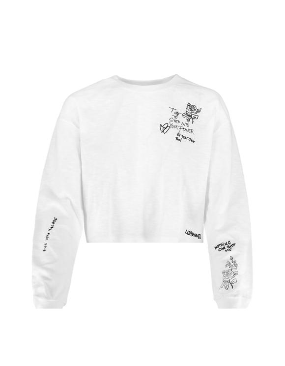 White Printed Top