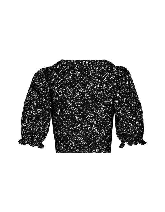 Flower Print Wrap Crop Top