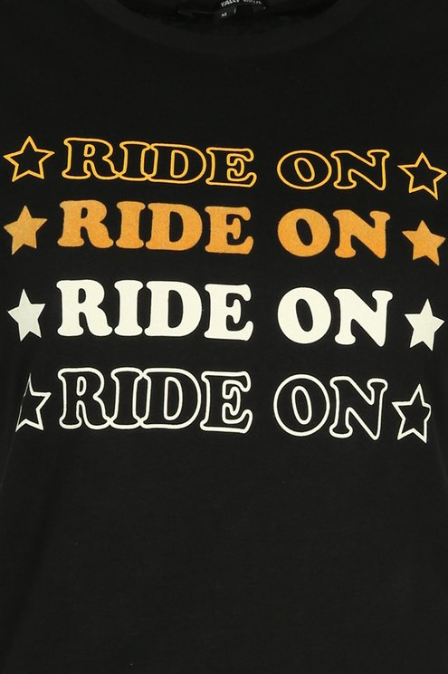 "Black ""Ride On"" T-Shirt"