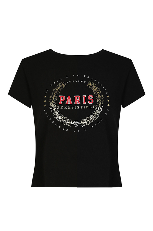 "Black ""Paris"" T-Shirt"