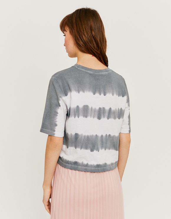 Crop Top Gris Tie & Dye