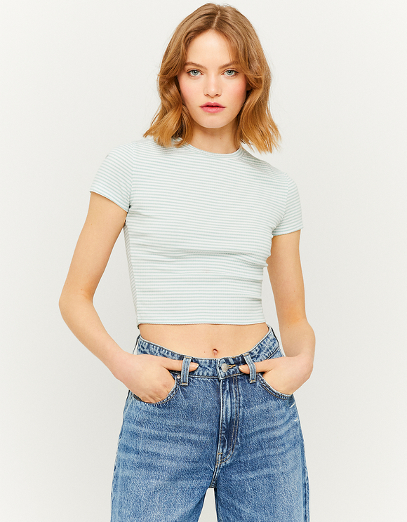 Basic Kurzärmliges Crop Top