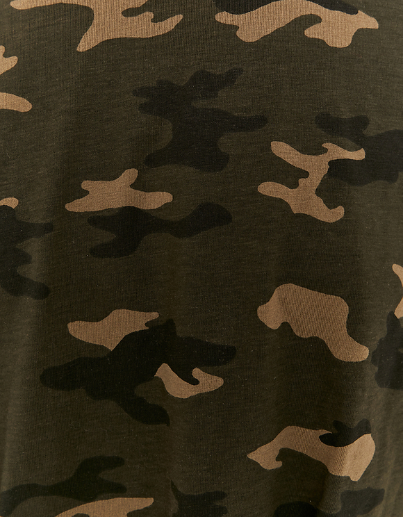 Top Camouflage Manches Longues